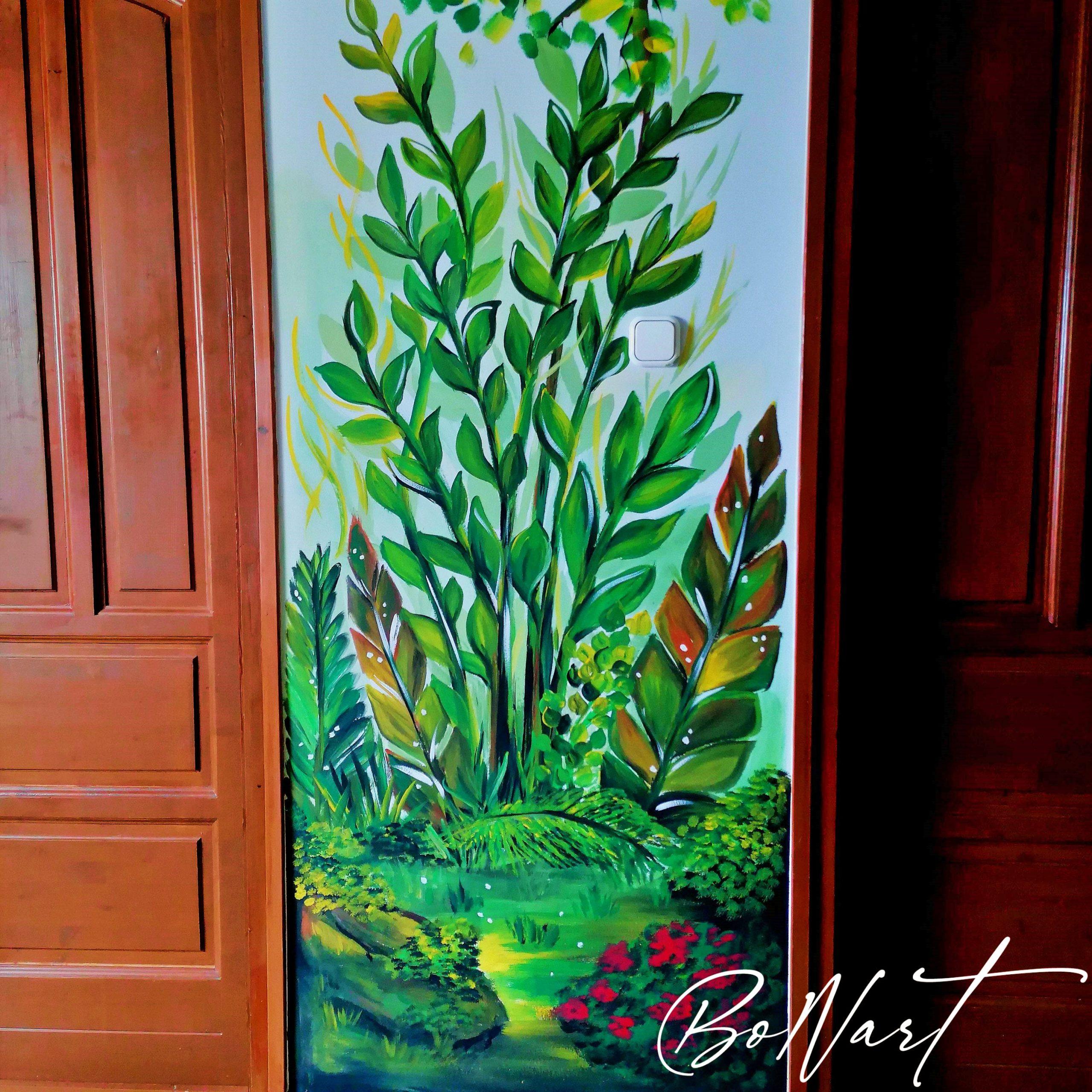 növényes fal 1600